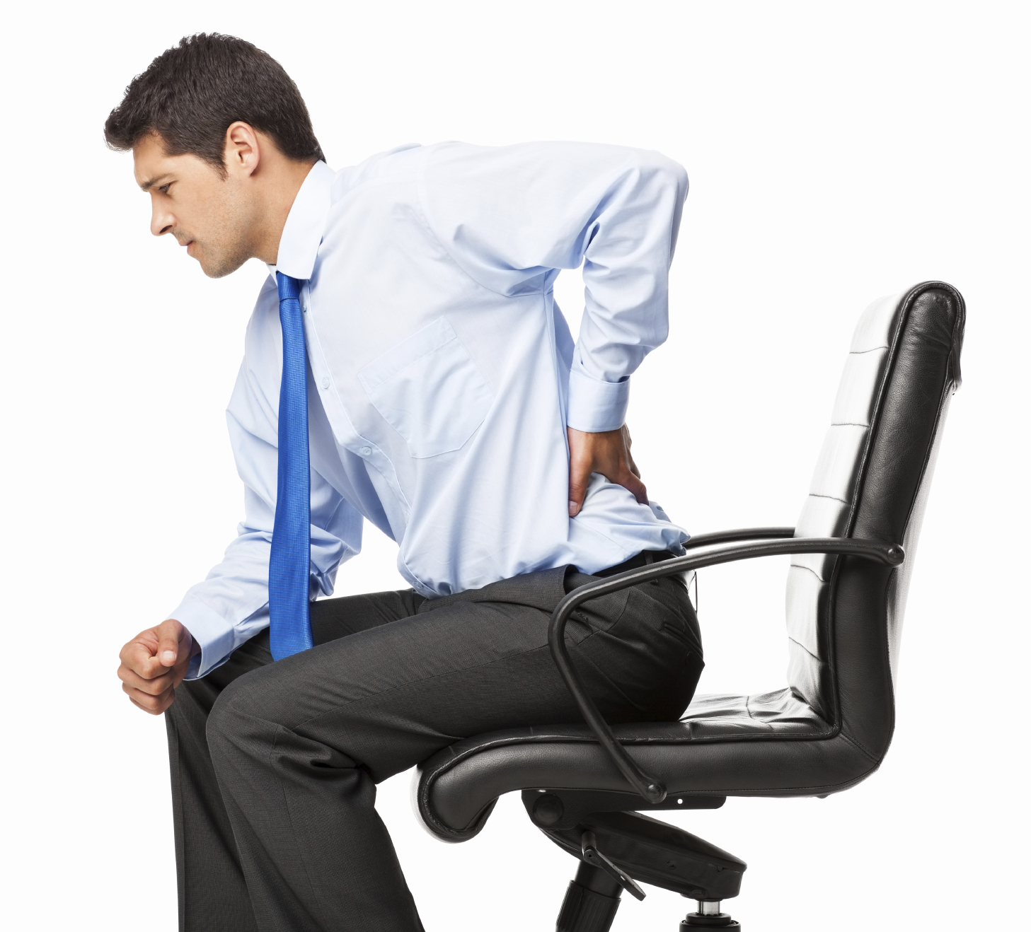 Businessman With Backache Isolated