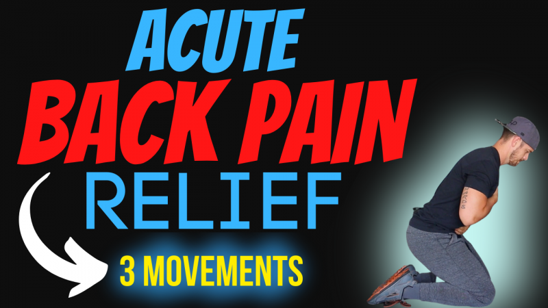 Acute back pain relief