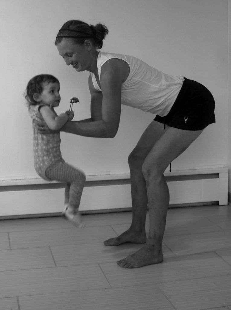 good posture with baby