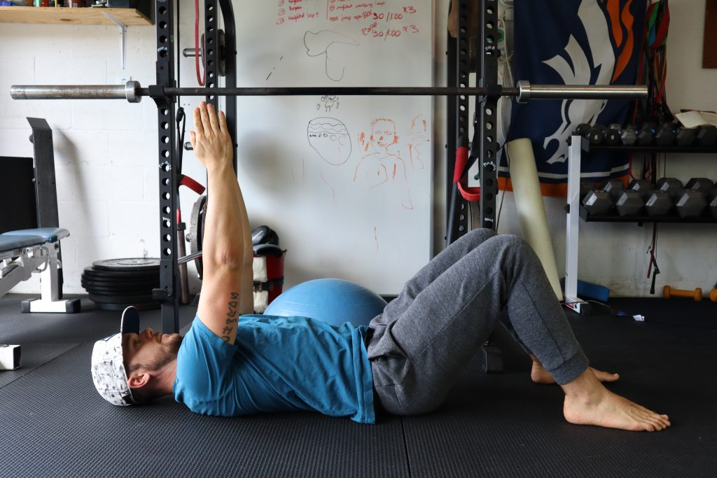 Ceiling presses or core strength
