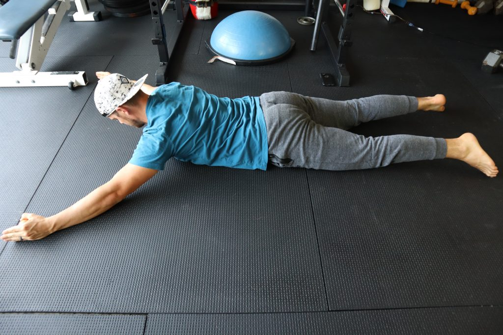 Y Raise on belly for back and core strength